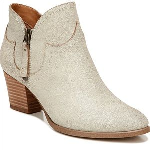 Zodiac Western Ivory Distressed Leather Boot NEW